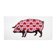 Pig of My Heart Beach Towel