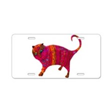 The Pink Tiger Kitty Aluminum License Plate