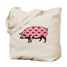 Pig of My Heart Tote Bag
