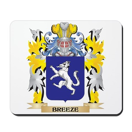 Breeze Coat of Arms - Family Crest Mousepad
