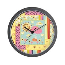 Quilted Balloon Bunny Wall Clock