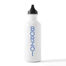BORZOI Blue Water Bottle