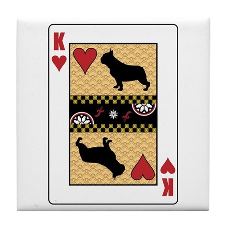 King Puggle Tile Coaster