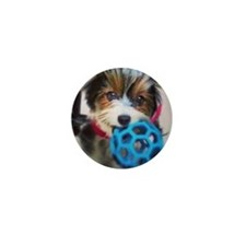 Kira blue ball Mini Button