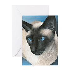 Boy Siamese Cat Greeting Card