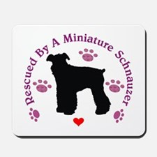 Rescued By A Miniature Schnauzer 111 Mousepad