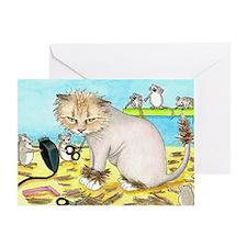 Cat 402 Greeting Card
