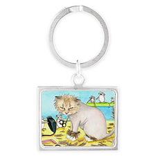 Cat 402 Landscape Keychain