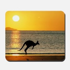 Australian Kangaroo on Beach Mousepad