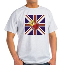 UNION JACK WITH HEART AND CROWN T-Shirt
