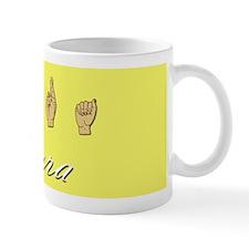 Sara name in ASL Mug