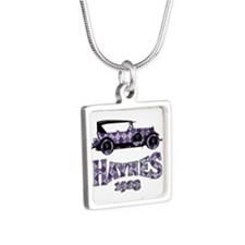 Purple Argyle Sedan Necklaces