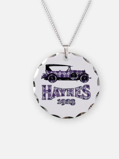 Purple Argyle Sedan Necklace