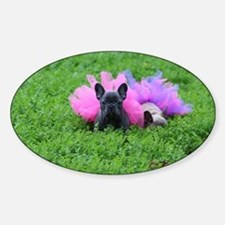 Love a Loyal Bulldog  Sticker (Oval)