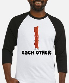 Bacon and Egg Couples Baseball Jersey