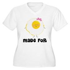 Egg and Bacon Couples Plus Size T-Shirt