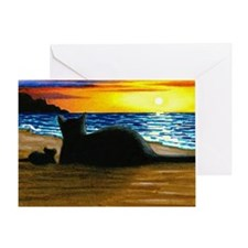 Cat 433 Greeting Card