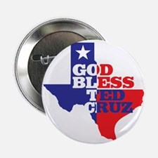 "God Bless Ted Cruz 2.25&Quot; 2.25"" Button"