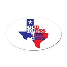 God Bless Ted Cruz Oval Car Magnet