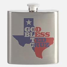 God Bless Ted Cruz Flask