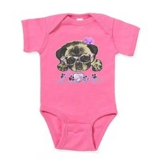Pug in Pink. For any one that loves Baby Bodysuit