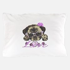 Pug in Pink. For any one that loves pu Pillow Case