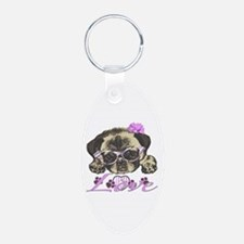 Pug in Pink. For any one th Keychains