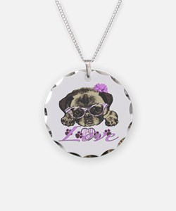 Pug in Pink. For any one tha Necklace
