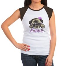 Pug in Pink. For any on Women's Cap Sleeve T-Shirt