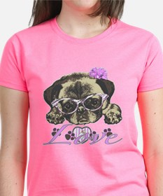 Pug in Pink. For any one that Tee