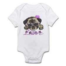 Pug in Pink. For any one that love Infant Bodysuit