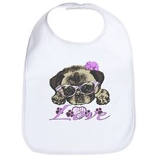 Pug in Pink. For any one that loves pugs. Bib