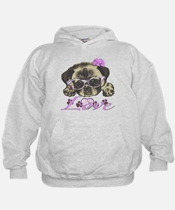 Pug in Pink. For any one that loves pu Hoodie
