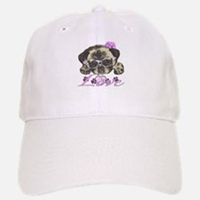 Pug in Pink. For any one that loves pugs. Baseball Baseball Cap