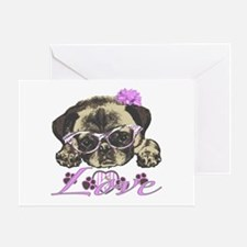 Pug in Pink. For any one that loves Greeting Card