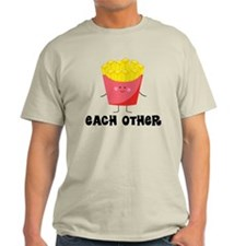 Fries and Hamburger Light T-Shirt