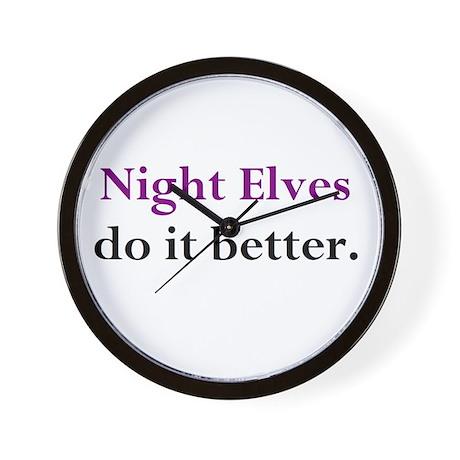 Night Elf Wall Clock