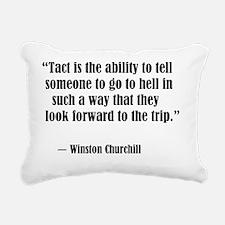 tact:Winston Churchhill Rectangular Canvas Pillow