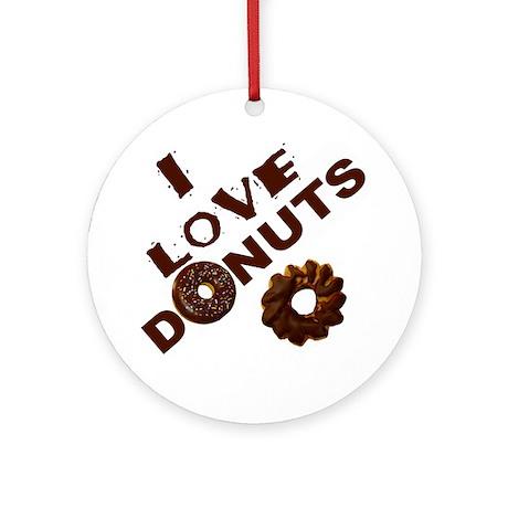 I Love Donuts! Ornament (Round)