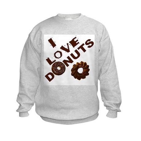 I Love Donuts! Kids Sweatshirt