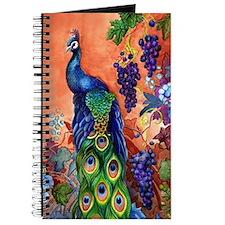 Peacock Bird Grape Artwork Journal