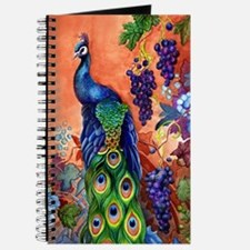 Peacock Bird Grape Artwork Journal