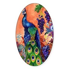Peacock Bird Grape Artwork Decal