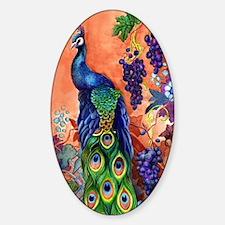 Peacock Bird Grape Artwork Decal