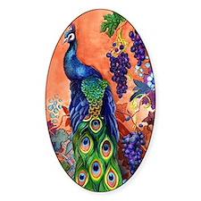 Peacock Bird Grape Artwork Stickers