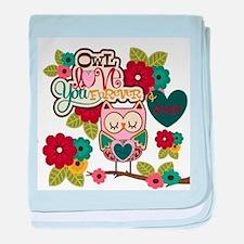 owl love forever baby blanket
