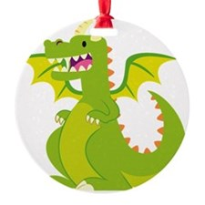 Funny Green Dragon  Ornament