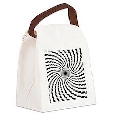 Hypnotic Spiral Canvas Lunch Bag