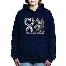 Ehlers Danlos Hope Love Cure Faith Hooded Sweatshi