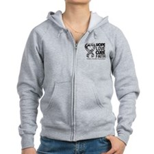 Ehlers Danlos Hope Love Cure Faith Zip Hoodie